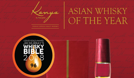 Kanya by Paul John bags Asian Whisky of the year in Jim Murray's Whisky Bible 2018