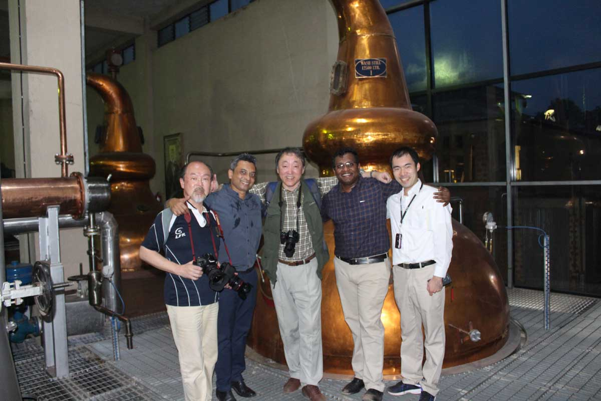 Japanese Visitors at Goa Distillery