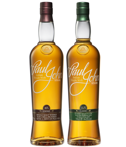 Paul John EDITED and CLASSIC Select Cask won GOLD awards