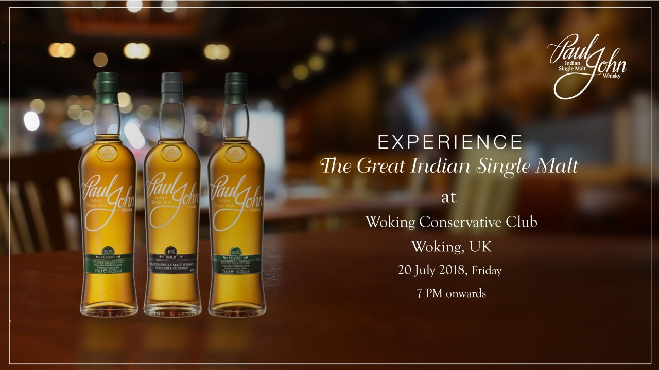 Whisky Tasting at Woking Conservative Club, UK