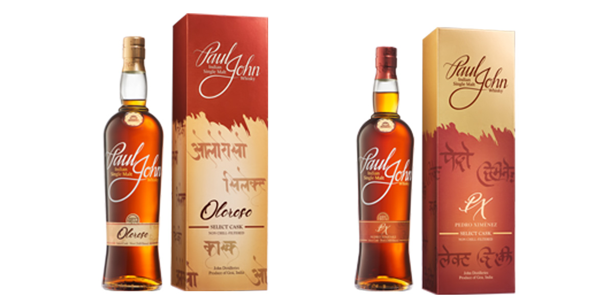 Paul John Whisky Releases Oloroso and Pedro Ximénez Casks Finish whiskies