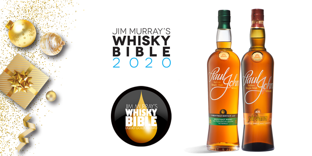 Paul John Whisky Collects Gold at Jim Murray Whisky Bible 2020
