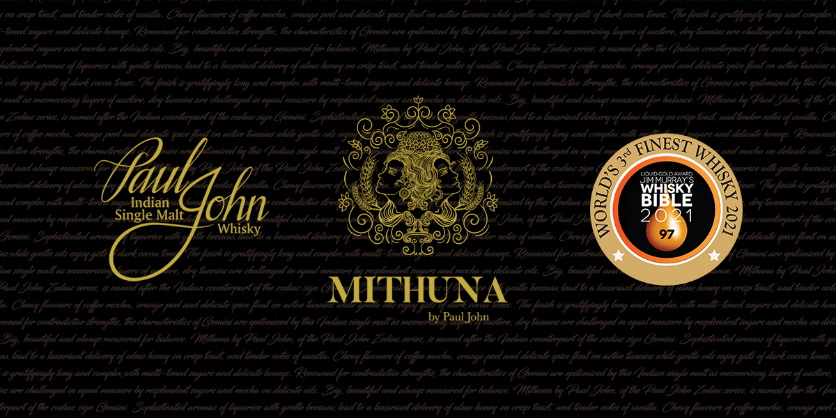 Mithuna by Paul John declared as the World's 3rd Finest Whisky